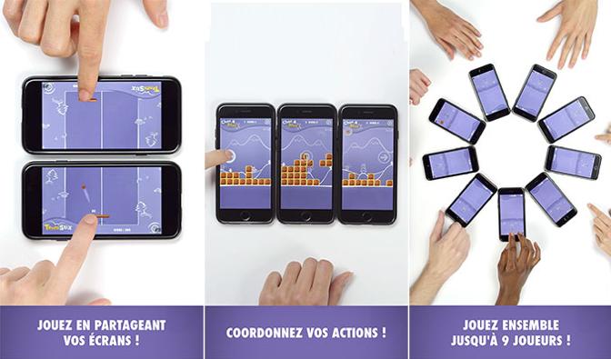 Écrans de l'application promotionnelle Milka Biscuit Saga